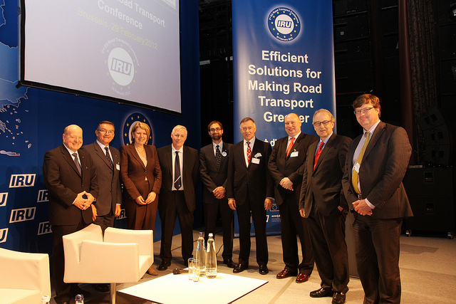 Speakers at 2nd IRU/EU road transport conference